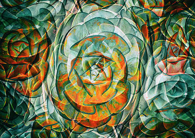 Plant Abstract Poster by Wayne Sherriff