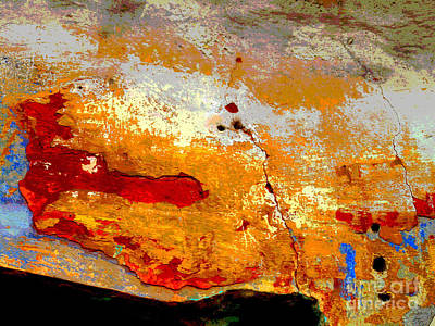 Plaster Abstracts 1 By Darian Day Poster by Mexicolors Art Photography
