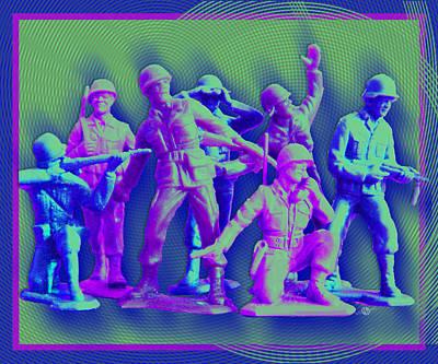 Plastic Army Man Battalion Pop Poster by Tony Rubino
