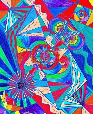 Pleiadian Restore Harmony Light Work Model Poster by Teal Eye  Print Store