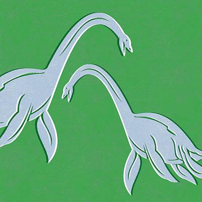 Plesiosaurus Poster by Linda Woods