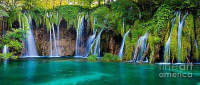 Plitvice Panorama Poster by Inge Johnsson