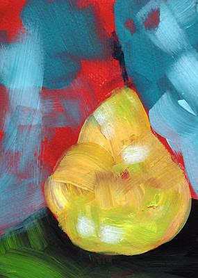 Plump Pear- Art By Linda Woods Poster by Linda Woods
