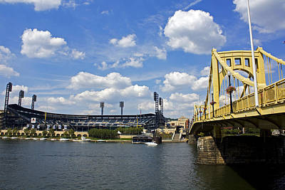 Pnc Park And Roberto Clemente Bridge Pittsburgh Pa Poster by Kristen Vota
