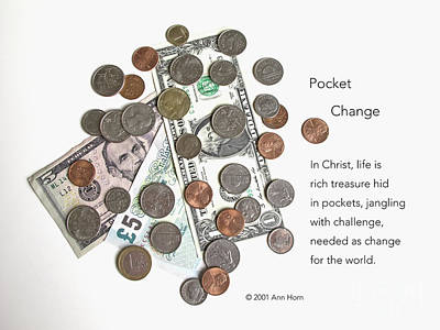 Pocket Change Poster by Ann Horn