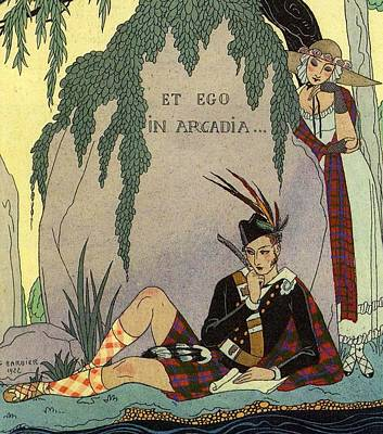 Poet Lover Poster by Georges Barbier