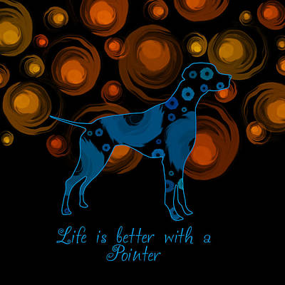 Pointer Dog Poster by Mihaela Pater