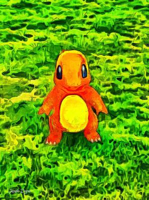 Pokemon Go Charmander - Pa Poster by Leonardo Digenio