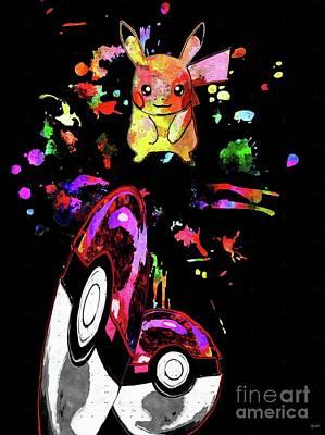 Pokemon Go Pikachu Poster by Daniel Janda