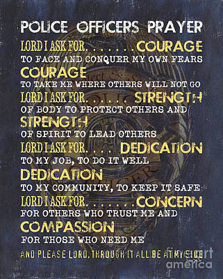Police Officers Prayer Poster by Debbie DeWitt