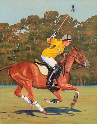 Polo Player Poster by James Zeger