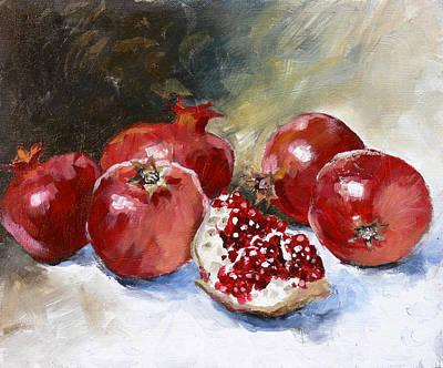 Pomegranate Poster by Tanya Jansen