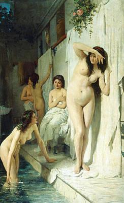 Pompeian Bath Poster by Giuseppe Barbaglia