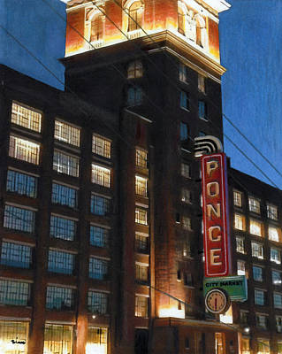 Ponce City Market, Atlanta Poster by Robyn Siani