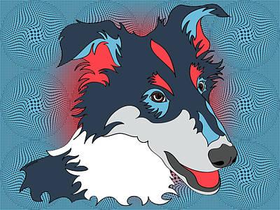 Pop Art Collie - Dog Art - Wpap  Poster by Shara Lee