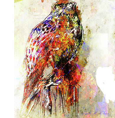 Popart Owl Poster by Angela Holmes