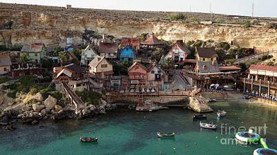 Popeye Village Malta Poster by Kira Yan