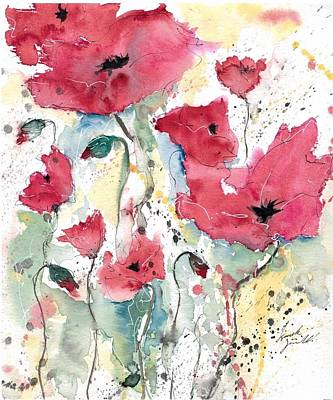 Poppies 10 Poster by Ismeta Gruenwald
