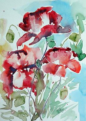 Poppy II Poster by Kovacs Anna Brigitta