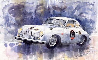 Porsche 356 Coupe Poster by Yuriy  Shevchuk