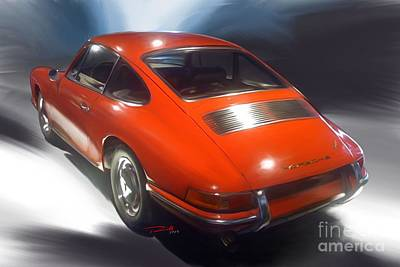 Porsche 911 1966 Poster by Reinhold Fine Art