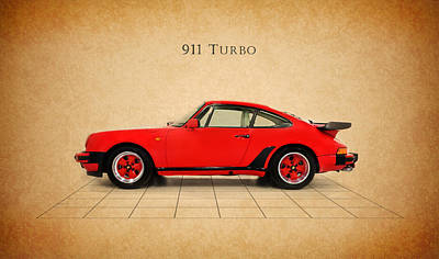 Porsche 911 Turbo 1985 Poster by Mark Rogan