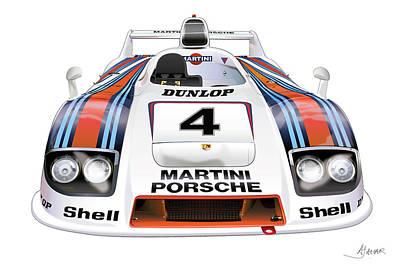 Porsche 936 Spyder 1980 Poster by Alain Jamar