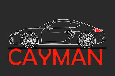 Porsche Cayman Phone Case Poster by Mark Rogan