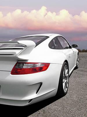 Porsche Gt3 Cs At Sunset Poster by Gill Billington