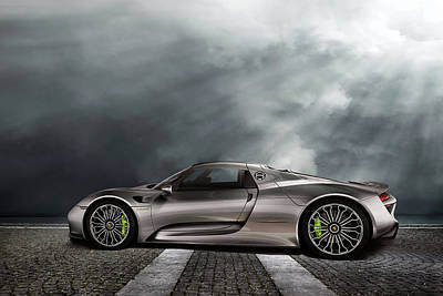 Porsche Spyder V2 Poster by Peter Chilelli