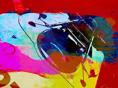 Porsche Watercolor Poster by Naxart Studio