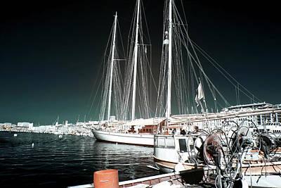 Port Sailboat Poster by John Rizzuto