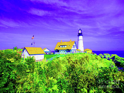 Portland Head Lighthouse Poster by Ann Johndro-Collins