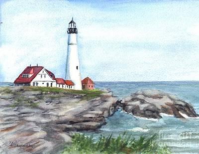 Portland Head Lighthouse Maine Usa Poster by Carol Wisniewski