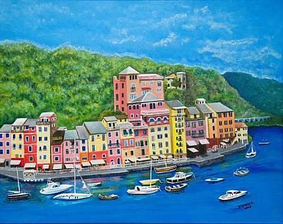 Portofino Poster by Edward Stotsky