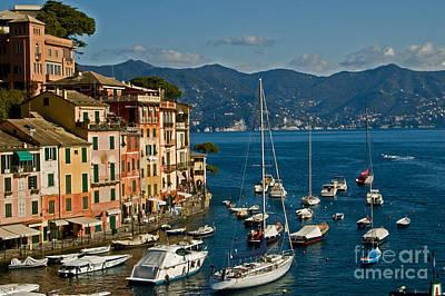 Portofino Italy Poster by Allan Einhorn