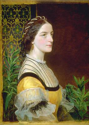 Portrait Of A Lady Poster by Frederick Sandys
