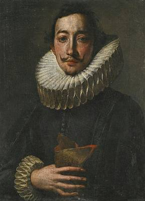 Portrait Of A Man In A Ruff Poster by Antonio Enrico