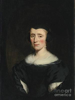 Forty Poster featuring the painting Portrait Of A Woman  Age Forty by Nicolaes Maes
