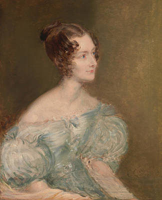 Portrait Of A Woman, Probably Mrs. Price Of Rugby Poster by John Linnell