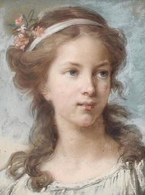 Portrait Of A Young Girl Poster by Elisabeth Louise