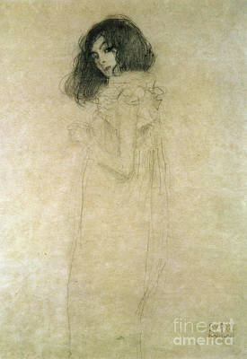 Portrait Of A Young Woman Poster by Gustav Klimt