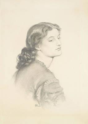 Portrait Of Ada Vernon Poster by Dante Gabriel Rossetti