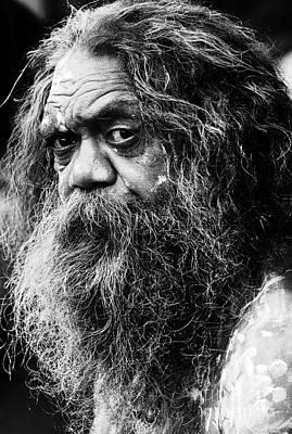 Portrait Of An Australian Aborigine Poster by Avalon Fine Art Photography