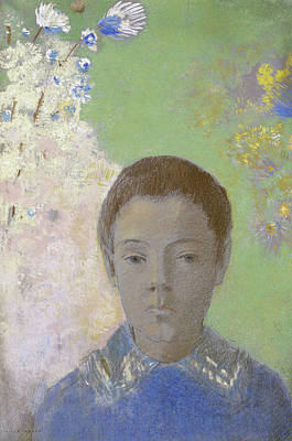 Portrait Of Ari Redon Poster by Odilon Redon