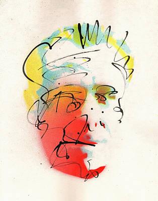 Portrait Of Charles Bukowski Poster by Ryan  Hopkins