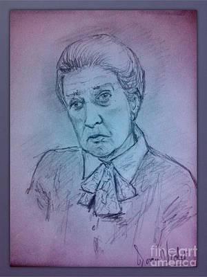 Portrait Of Cora Pastel Colours Poster by Joan-Violet Stretch