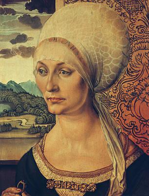 Portrait Of Elisabeth Tucher Poster by Albrecht Durer