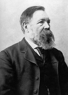 Portrait Of Friedrich Engels Poster by German School