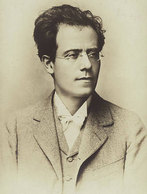 Portrait Of Gustav Mahler Poster by Austrian School